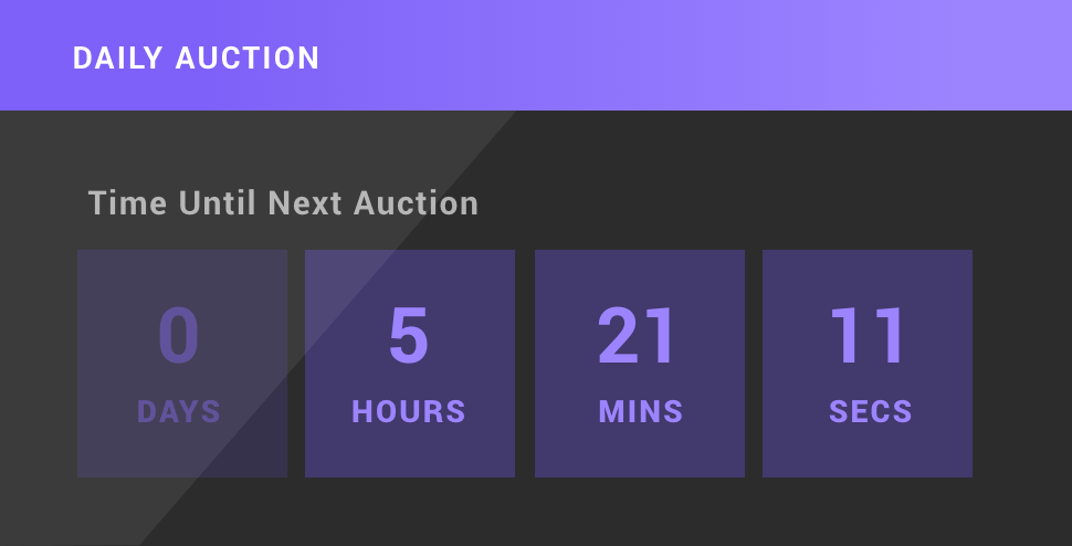 Auction countdown