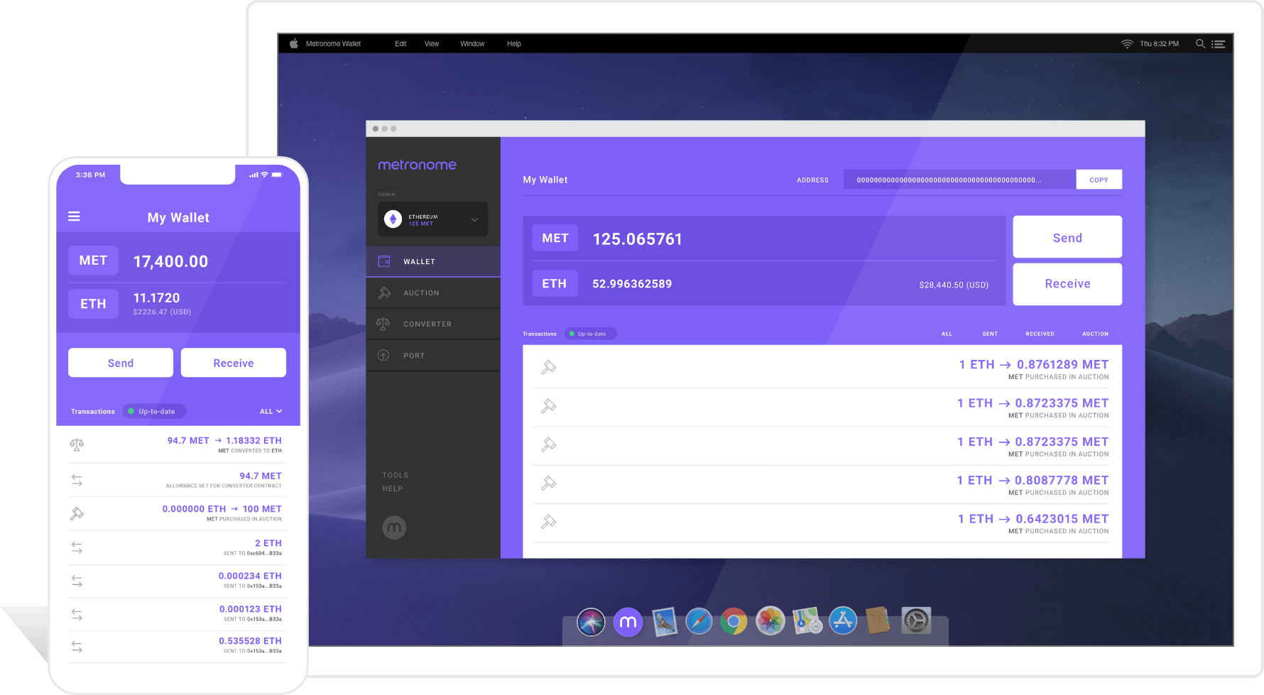 Metronome Wallet Screenshot